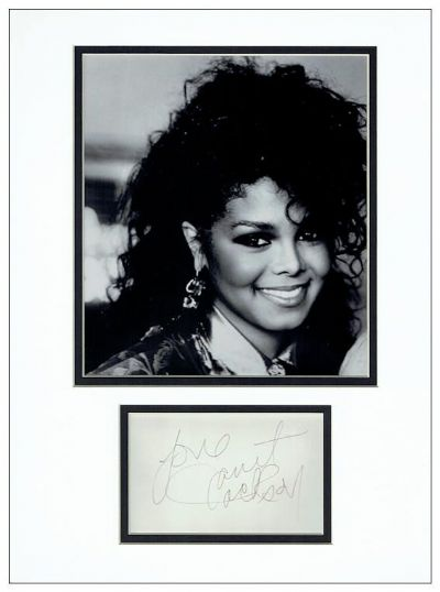 Janet Jackson Autograph Signed Display
